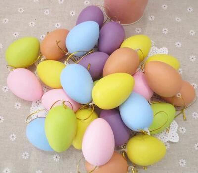 Vendita calda Uovo di Pasqua Uovo di Pasqua con Lanyard Plastic Eggs Bambino Doodle di plastica dipinta Shell di uovo per DHL spedizione gratuita