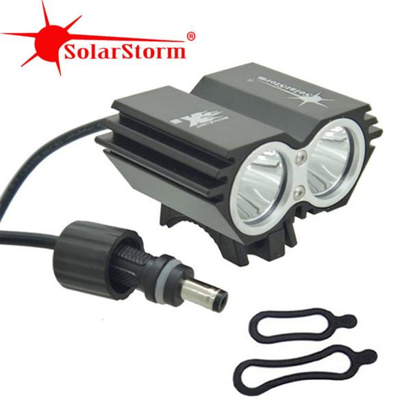 SolarStorm X2 5000 Lumen Bike Light Bicycle lamp 2x XML t6 LED BicycleLight Bike headLamp+O ring (only headlight) Y1892809