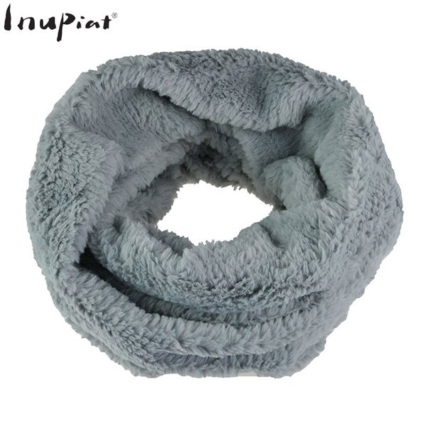 Fashion Winter Stole Scarves for Women 2018 New Luxury Brand Faux Fur Ring Scarf Muffler Female Striped Infinite Scarf Cachecol