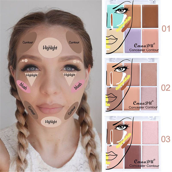 Cmaadu New Natural 6 Color Corrector Foundation Concealer Face Makeup Brighten Moisturizer Pores Cover Contour Concealer Palette