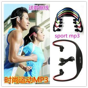 New Wireless Headset Style Sport MP3 Player Wrap Around Wireless Headphone Earphone TF Card Mp3 Music Player
