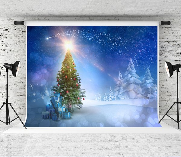 Holiday Christmas Background.2019 Dream 7x5ft 220x150cm Blue Snow Scenery Background For Photography Holiday Christmas Tree Backdrop Photographer Winter Photo Studio Prop From