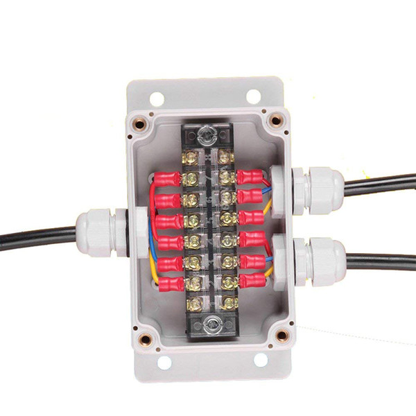 top popular IP65 Waterproof Cable Distribution Junction Box with Terminal Blocks 100*68*50mm 3 Ways Wall Mounting 2021