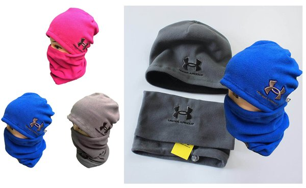 Brand U&A Hats and Scarf Sets Winter Under Kniteed Hats Warm Scarf Neck Collar Scarves Warm Hedging Skull Caps Neckerchief Hand Cap Gifts