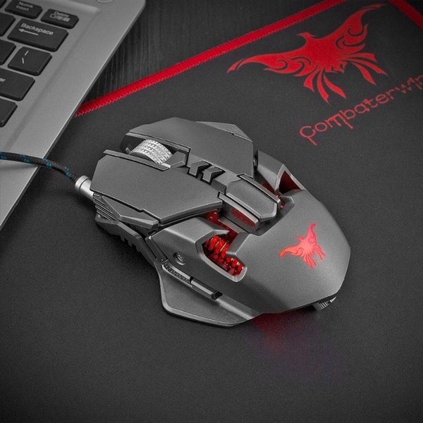Game Mouse CW30 USB Wired Gaming Mouse 3200DPI 7 Buttons 1000Hz Return Rate Weight Tuning Optical Mice for PC Laptop
