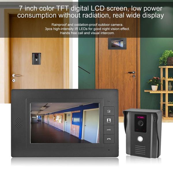 LESHP Video Door Phone Video Intercom LCD Screen Door Intercom IR Night  Vision Camera Doorbell Kit For Home Apartment Video Doorbells Video  Doorphone ...