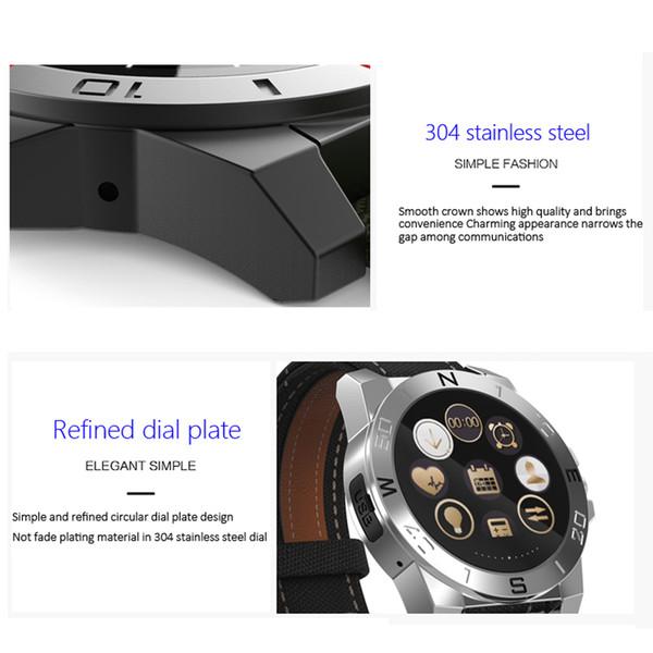 Bluetooth Smart Watch Orologio sportivo da esterno Smartwatch con cardiofrequenzimetro Bussola Termometro impermeabile per IOS Android