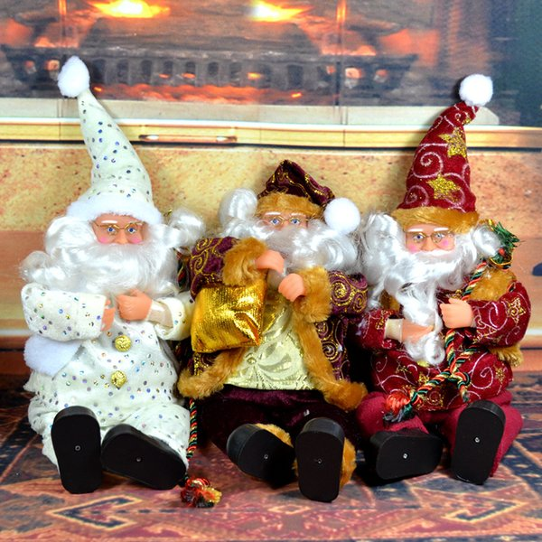 Christmas Decorations Santa Claus Window Doll Ornaments for New Year Decorations Cute Christmas Tree Decor Gifts MFD77