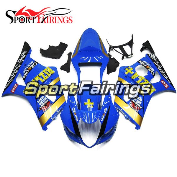 Full Motorcycles Injection Fairing Kit For Suzuki GSXR1000 K3 Year 2003 GSX-R1000 2004 ABS Plastics Sportbike Bodywork Cover Blue Yellow New