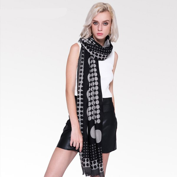 Satin Print Scarf Positioning Dot Comfortable Warm Long Cotton And Linen Scarf Fashion Scarves Casual Fashion Scarves For Women