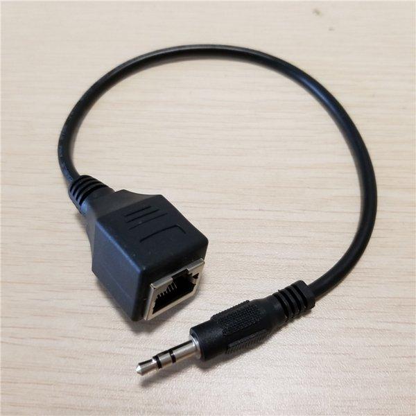 3.5 мм Aux мужчина к RJ-45 RJ45 женский адаптер LAN Ethernet сеть аудио кабель-удлинитель шнур 30 см