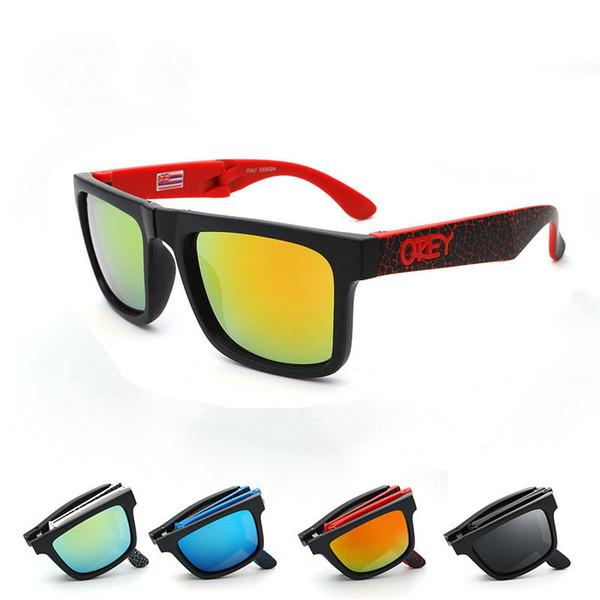 Folding Sunglasses KEN BLOCK Brand Designer Sun Glasses Reflective Coating Square Spied For Men And Women Rectangle Gafas De Sol