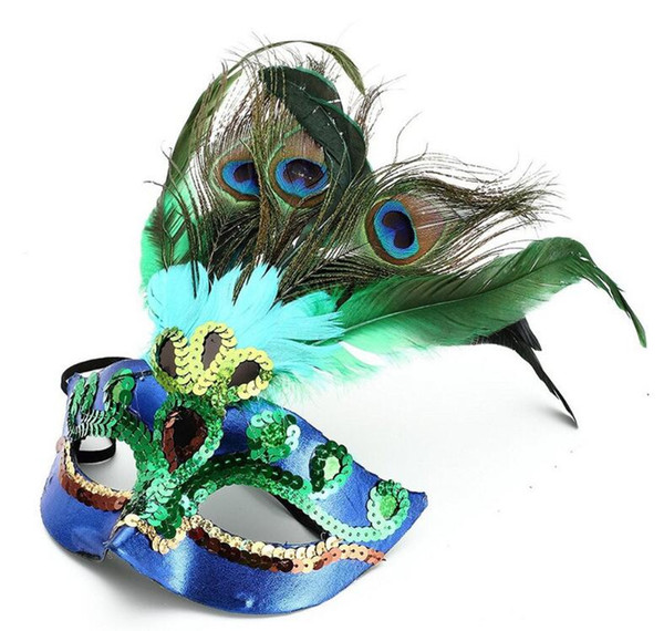 Venta caliente Partido de Baile Máscara de Pavo Real Apoyos de Cosplay Para Niñas de Halloween Mascarada de Danza Máscaras Accesorios