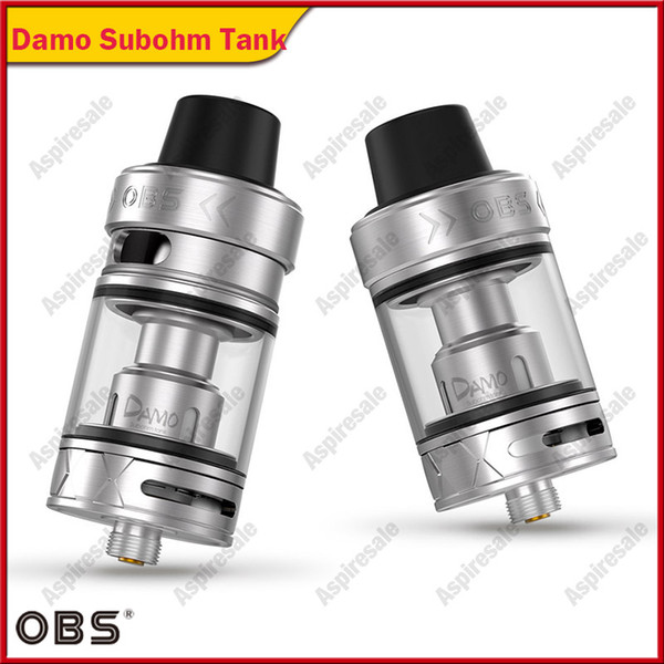 OBS Damo Subohm Tank 5ml With New M2 And M6 Coils Anti Leak Base Design  Pull Up Top Refill System OBS Damo Atomizer Vaporiser Vaporizer Cigarette  From