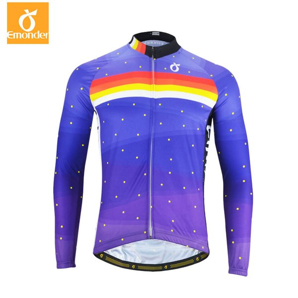 EMONDER Men/Women Long Sleeve Cycling Jerseys Pro Fit Road Bike MTB Top Jersey Custom Spring Autumn Cycling Clothings wholesale