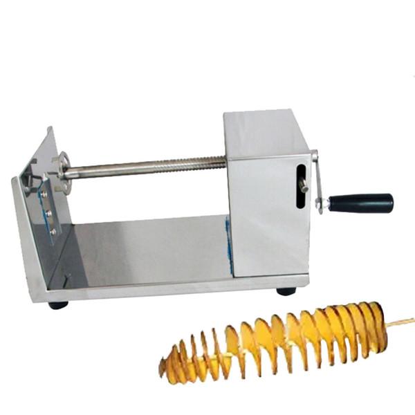 Machine de coupe de pommes de terre Machine de coupe en spirale Machine à chips Accessoires de cuisine Outils de cuisson Outils de légumes Chopper Chipper