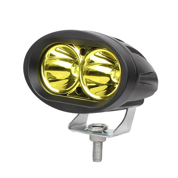 2 PCS 3 pouces 20 W LED Work Light Offroad Moto SUV ATV 4WD 4X4 Conduite Lampe Brouillard 12 V 24 V Phare Jaune bule couleur blanche