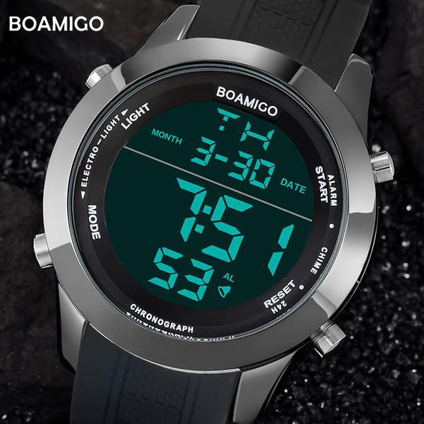 39e4d1a9371 X homens relógios moda esporte relógios digitais preto relógios de pulso de  borracha à prova d