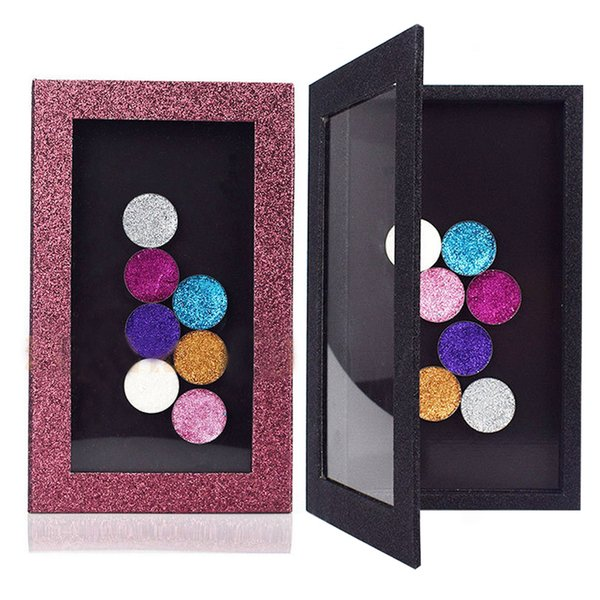 Hot Sale Fashion DIY Refill Empty Magnetic Eyeshadow Palette Concealer Pans With Blush Powder Lipstick Palette Pink Shiny Gift