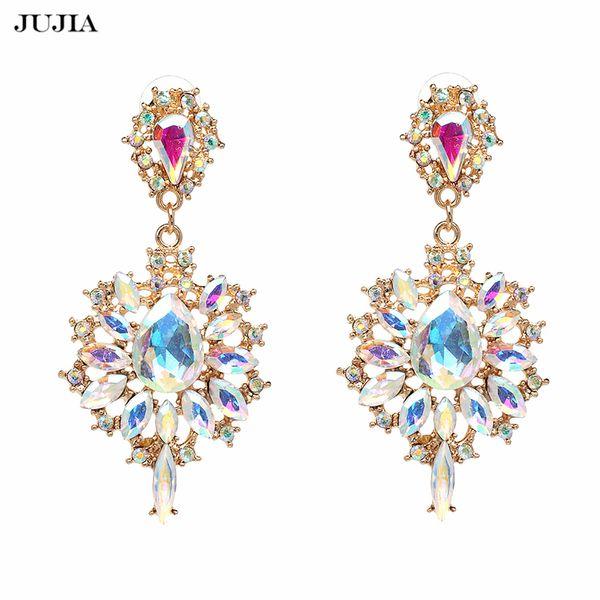 2018 New Fashion Jewelry Statement Cross Earrings For Women Luxury Big Drop Dangle Earrings Long Earrings S914