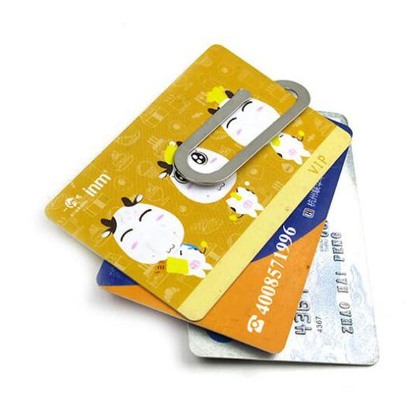 Edelstahl Metall Geldscheinklammer - Mode einfach Silber Dollar Bargeld Kreditkarte Klemmhalter Ordner Brieftasche für Männer