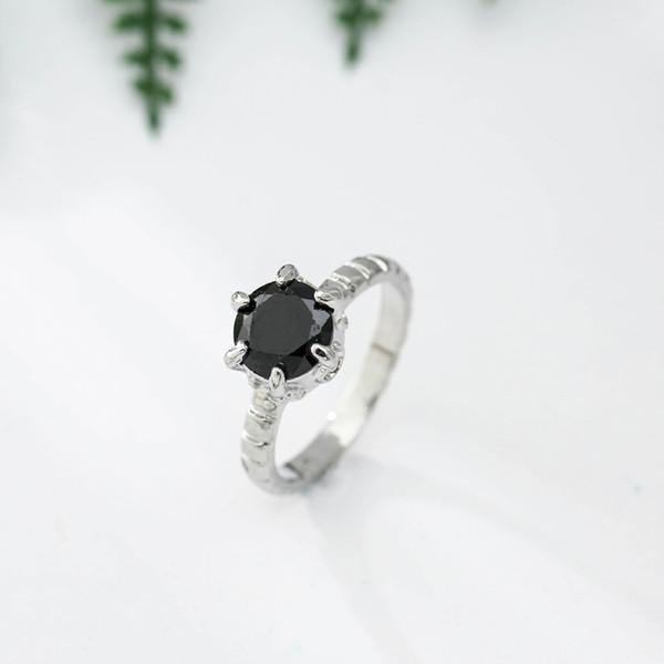 bague argent pierre noire et blanche