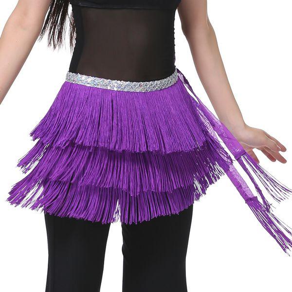3 Schichten Fringe Pailletten Orientalischen Bauchtanz Kostüme Gürtel für Verkauf Frauen Indische Tanzen Hüfttuch Schals Bauchtanz Zubehör