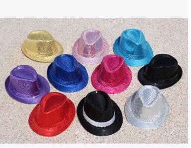 paillette fedora hat Club Party Baseball Hip-Hop Jazz Dance hat Stage Performance Props cap festival hats