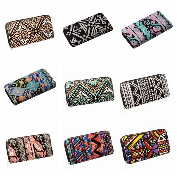 74644d810a44 9 Styles Bohemia Woven Boho Long Women Wallet Aztec Female Purse Ladies  Tribal Card Holder Girls With Cupreous Zipper Wallet Cca10463 Purse For  Baby ...