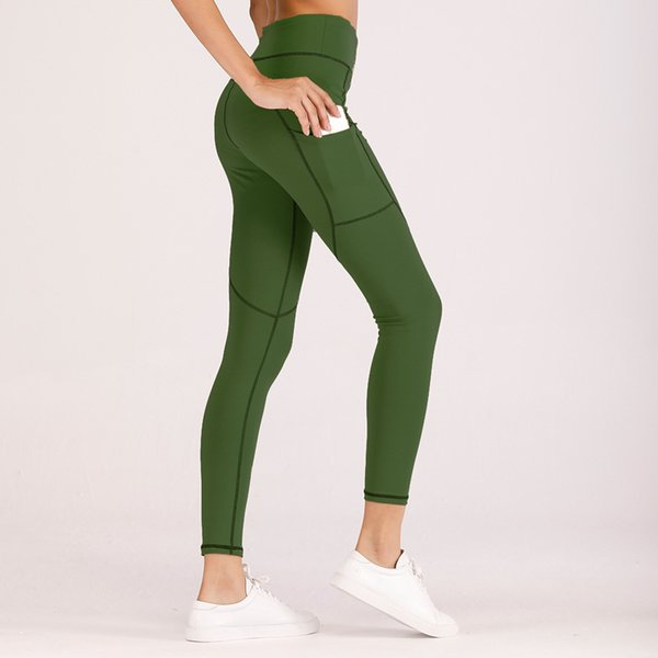 Women Yoga Pants Slim Running Tights Sportswear Sports Leggings Pocket High Elastic Trousers Clothing Breathable Sexy Heart Hips