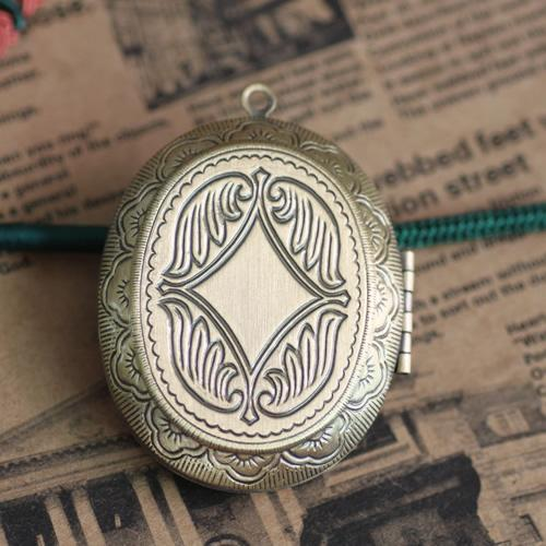 5pcs 39*47mm fit for 28*36mm bronze handmade flower photo locket pendants for necklace vintage picture frame charm pendant wish box jewelry