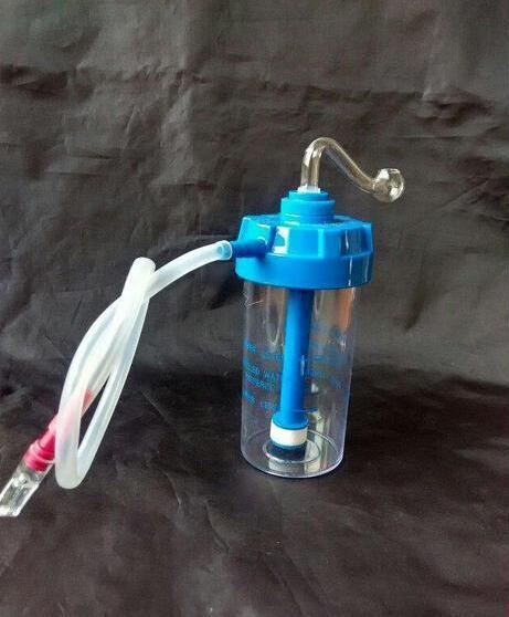 Ücretsiz kargo ---- 2015 yeni Mavi oksijen silindir modelleri Akrilik Nargile / bong, yüksek 14 cm, hediye aksesuarları (pot + saman) QWRT