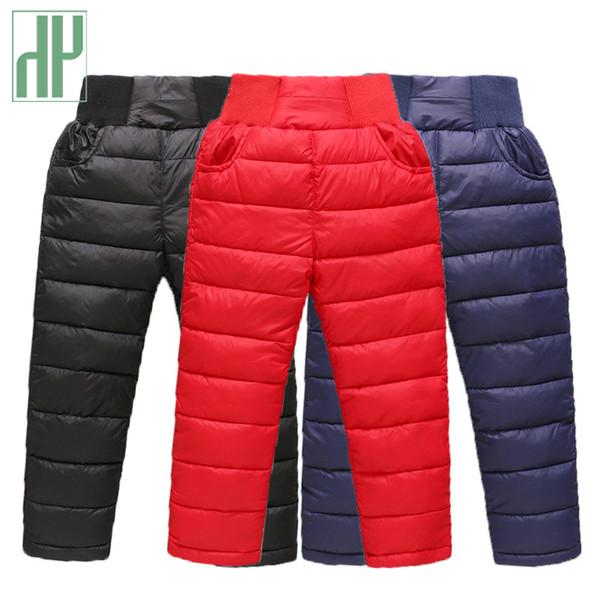 Kinder Hosen für Mädchen Jungen lange Hosen Winter verdicken warme Daunen Kinder Herbst Kleidung wasserdicht Schnee Hosen 3 4 7 8 Jahre