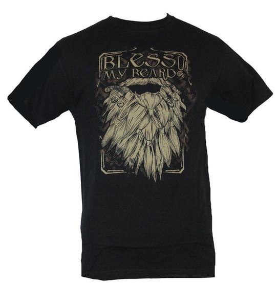 Der Hobbit Mens T-Shirt - Segne mein Bart Fancy Beard Bild Bequeme T-Shirt Casual Kurzarm Print