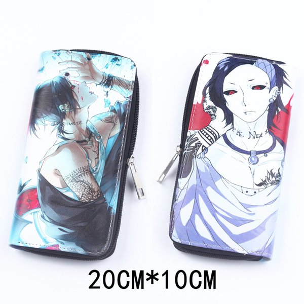 Leather Long Wallet of Anime Tokyo Goul Cool Gift Lovelive Purse Cosplay Naruto Card Holder Money Bag for Gift