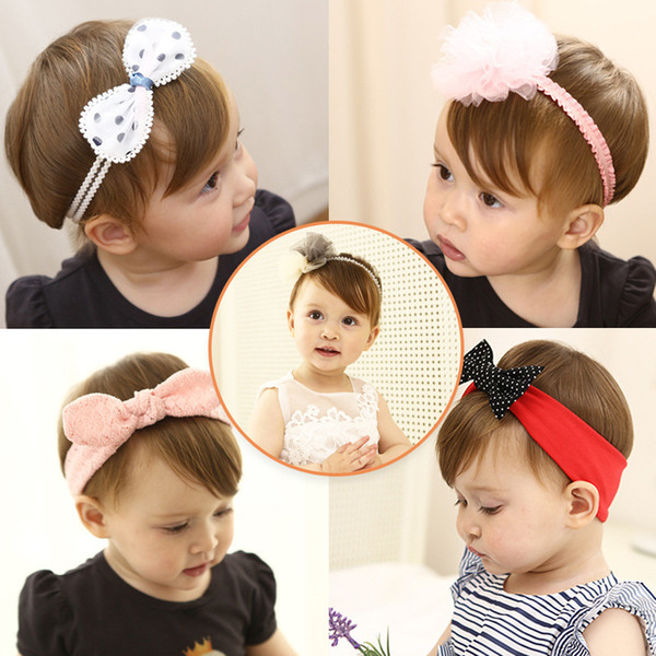 1 Piece New Children/'s Cartoon Headbands Kids Lace Bow Knot Star Crown Hairband
