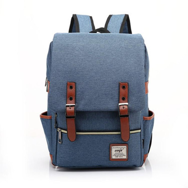 Male canvas College School Student Backpack Casual Rucksacks Travel Bag Laptop bags women bags ZDD7205