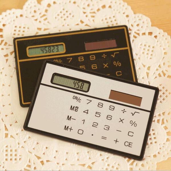 Tipo de tarjeta delgada calculadora computadora portátil energía solar calculadora estudio suministros de oficina