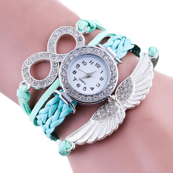ISHOWTIENDA wrist watches for women ladies watch New Fashion Wing Wrap Around Bracelet Watch Synthetic Leather Chain Watchmontre