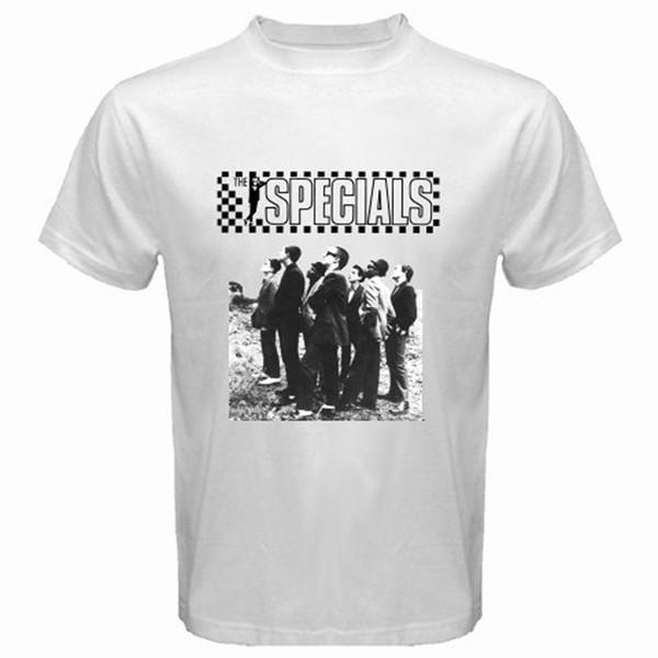 Screen Printing T Shirts O-Neck The Specials 2 Tone Ska Band Music Men's White T-Shirt Sizes S To 3XL Free Shipping Men Short