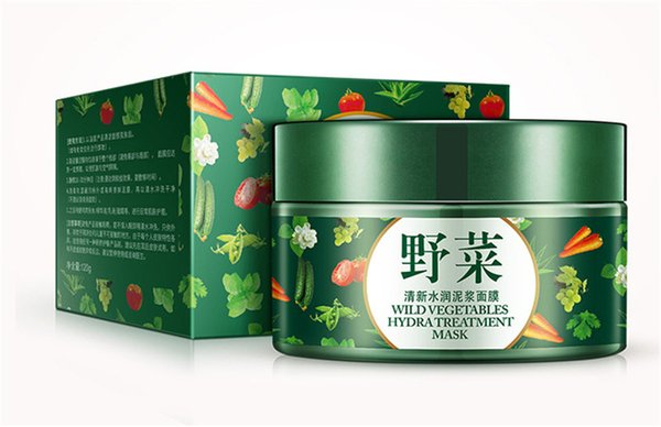 New Arrival BIOAQUA Vegetables Mud Mask Face Skin Care Deep Cleaning Acne Blackhead Treatment Hydrating Moisturizing Facial Masks