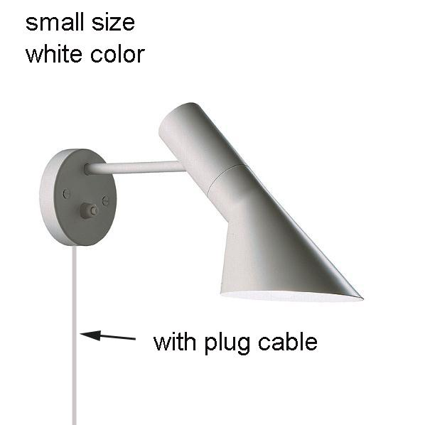 white, small size, with plug