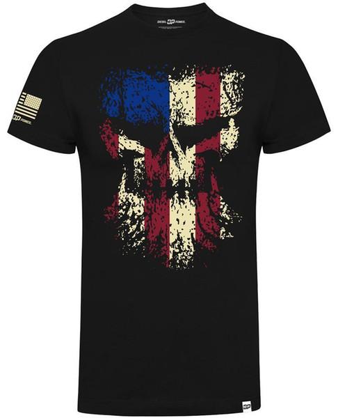 Dizel Güç Dişli Grunged Kafatası Bayrağı Resmi Dizel Sellerz Siyah Erkekler TShirt Hip Hop Tarzı Üstleri Erkekler Klasik Rahat Yaz T-shirt Tops