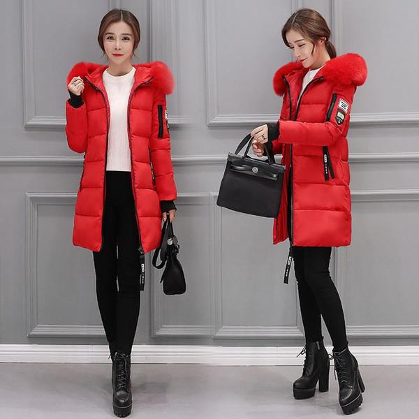Long Parkas Women Winter Coat Thickening Cotton Winter Hooded Jacket Womens Outwear Parkas Winter Outwear Overcoat