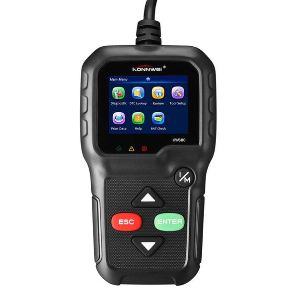 OBDII Leitor de Código Automotivo KONNWEI KW680 OBD2 Scanner de Diagnóstico Do Carro Completo OBD2 / EOBD Funções de Varredura de Carro Ferramenta Scanners de Falhas Do Motor Do Veículo