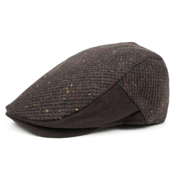 men winter autumn wool forwards hats fashionable sir England British style handsome berets male coffee blue visors boyfriend flat caps uomo