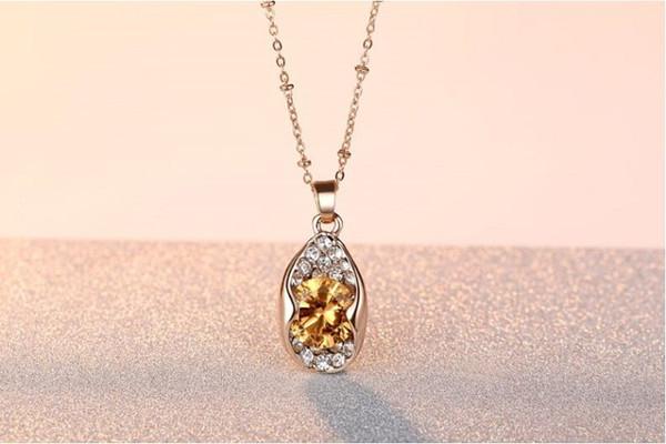 12 Sätze / Los, LIXINTAI Neuer Halskettenanhänger von Swarovski Crystal Lover's Intarsien Austria Kristallanhänger Glitzernder Boutique-Schmuck