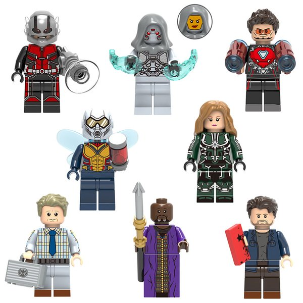 Ant-Man and the Wasp Ghost Captain Marvel Erik Selvig Zuri Baron Zemo Iron Man Toy Figure Building Block