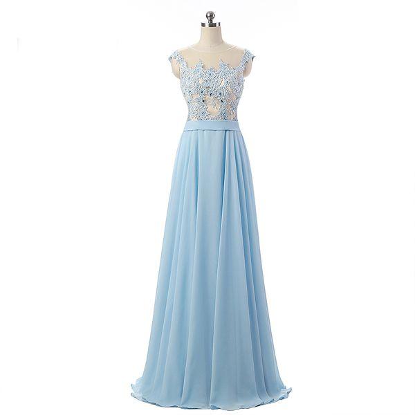 designer dressing gowns ladies Coupons - Professional Designer Baby Blue Evening  Ladies A-Line Dress c5ef9b54a