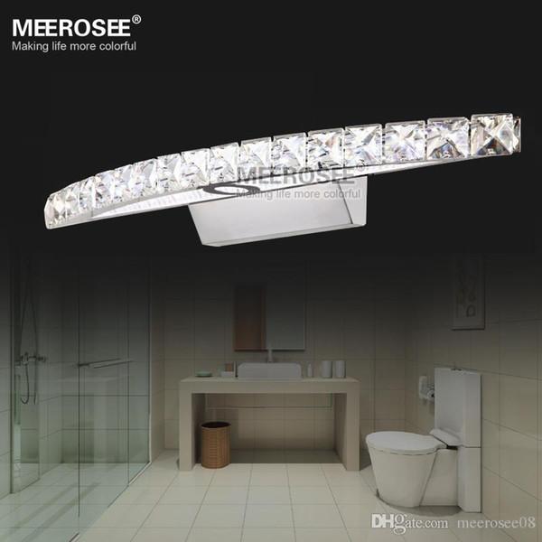 Zeitgenössische Hauptdekore LED Kristallspiegel Wandleuchter Cristal LED Edelstahl Beleuchtung für Badezimmer MD81539